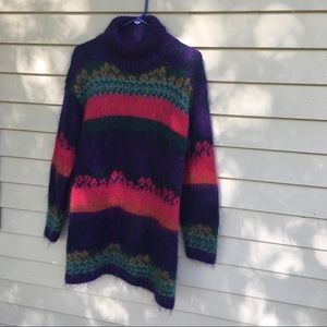 Vintage mohair long turtleneck sweater M